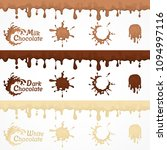 set of chocolate blots and... | Shutterstock .eps vector #1094997116