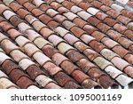 close up of old and weathered... | Shutterstock . vector #1095001169