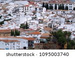 white houses in the andalusian... | Shutterstock . vector #1095003740