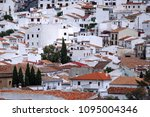 white houses in the andalusian... | Shutterstock . vector #1095004346