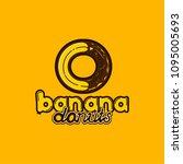 logo banana donuts fruits food... | Shutterstock .eps vector #1095005693