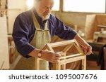 concept of diy. old man is... | Shutterstock . vector #1095007676