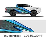 truck and car graphic... | Shutterstock .eps vector #1095013049