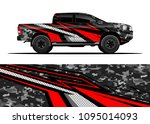 truck and car graphic... | Shutterstock .eps vector #1095014093
