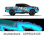 truck and car graphic... | Shutterstock .eps vector #1095014120