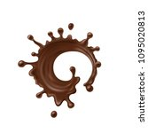 chocolate twisted chocolate on... | Shutterstock .eps vector #1095020813