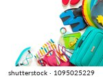 traveler accessories for women... | Shutterstock . vector #1095025229