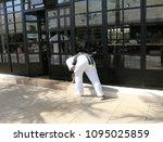 scene of storefront windows...   Shutterstock . vector #1095025859