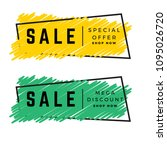 scribble sale banner   Shutterstock .eps vector #1095026720