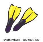 big flippers new pair as part... | Shutterstock .eps vector #1095028439