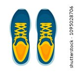 modern sneakers pair isolated... | Shutterstock .eps vector #1095028706