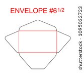 envelope  6 1 2 die cut... | Shutterstock .eps vector #1095032723