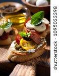 italian appetizers   various... | Shutterstock . vector #1095033398