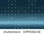 digital binary data  white dots ...   Shutterstock .eps vector #1095036218