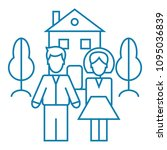 family wellbeing linear icon... | Shutterstock .eps vector #1095036839
