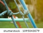 rope climbing playground for... | Shutterstock . vector #1095043079