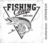 fishing club vintage logo... | Shutterstock .eps vector #1095048134