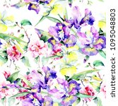 colorful bouquet. seamless...   Shutterstock . vector #1095048803