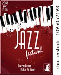 jazz music festival  poster... | Shutterstock .eps vector #1095052193