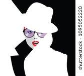 fashion woman in style pop art. ... | Shutterstock .eps vector #1095052220