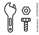 wrench and nut symbol    Shutterstock .eps vector #1095053603