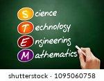 stem   science  technology ... | Shutterstock . vector #1095060758