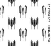 seamless pattern of wheat ears | Shutterstock .eps vector #1095061526