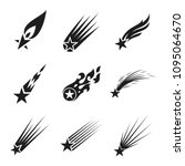 shooting stars vector icons set. | Shutterstock .eps vector #1095064670