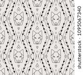 tribal vector pattern. ethnic... | Shutterstock .eps vector #1095067340
