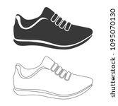 sneakers vector  icon. | Shutterstock .eps vector #1095070130