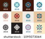 geometric logo template set.... | Shutterstock .eps vector #1095073064