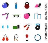 solid vector ixon set   barbell ... | Shutterstock .eps vector #1095074528