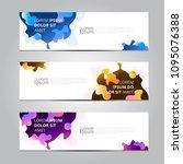 vector abstract design banner... | Shutterstock .eps vector #1095076388
