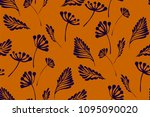 floral seamless pattern with... | Shutterstock .eps vector #1095090020
