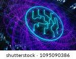 abstract digital geometric... | Shutterstock . vector #1095090386