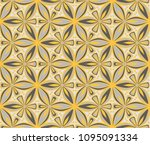 graphic flower arabesque... | Shutterstock .eps vector #1095091334