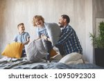 outgoing dad having fun with... | Shutterstock . vector #1095092303