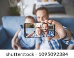portrait of outgoing parent and ...   Shutterstock . vector #1095092384