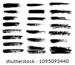 painted grunge stripes set.... | Shutterstock .eps vector #1095093440