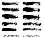 painted grunge stripes set.... | Shutterstock .eps vector #1095093443
