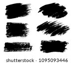 painted grunge stripes set.... | Shutterstock .eps vector #1095093446