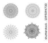 set of black white mandalas.... | Shutterstock .eps vector #1095094730