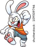 cool cartoon white rabbit.... | Shutterstock .eps vector #109509746