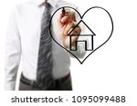 hand drawing a house | Shutterstock . vector #1095099488