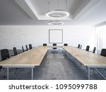 black chairs boardroom interior ... | Shutterstock . vector #1095099788