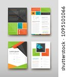 poster brochure flyer design... | Shutterstock .eps vector #1095101066