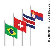 brazil  switzerland  costa rica ... | Shutterstock .eps vector #1095102338