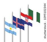 argentina  iceland  croatia... | Shutterstock .eps vector #1095102344