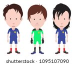 football players  and... | Shutterstock .eps vector #1095107090