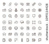 seo icon set. collection of...   Shutterstock .eps vector #1095114428